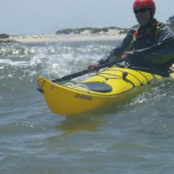 sea kayak surfing beginner